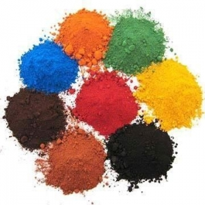 Iron oxide red/black/yellow/green powder