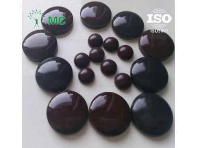 Black tourmaline ceramic particles