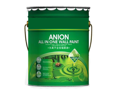 Negative ions wall paint